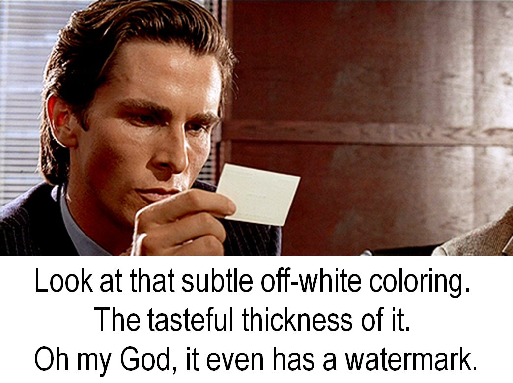 American Psycho Business Cards Twins Print