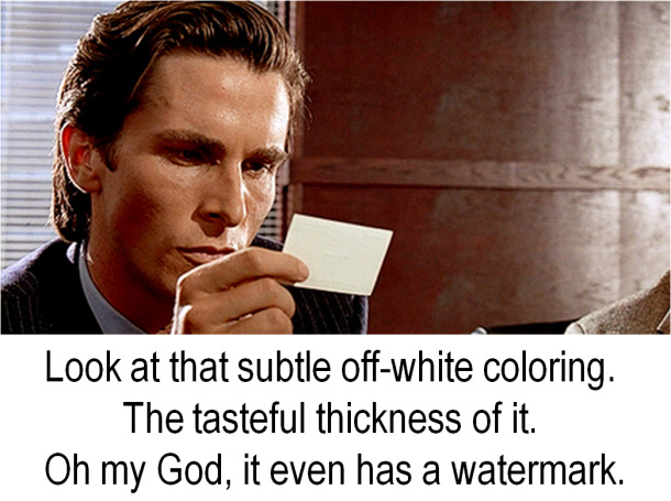 American Psycho Business Cards | TWINSPRINT